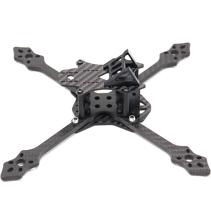 TCMMRC FPV Drone Frame Blackbird 210N/210S 210mm Normal X FPV Racing RC Drone Frame Kit 5mm Arm Carbon Fiber